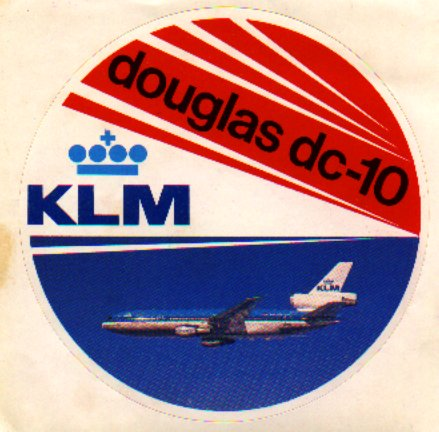 Happiness Is A Flight On A Klm Royal Dutch Airlines Dc-10 Other Airline Collectibles Dc-10 Klm Sticker